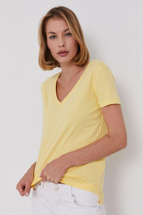 żółty Answear Lab - T-shirt Damski
