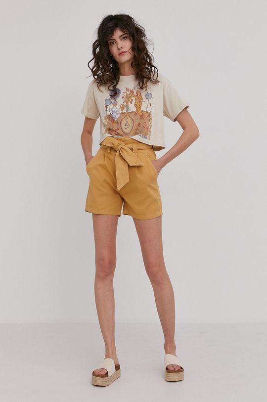 Answear Lab - T-shirt beżowy