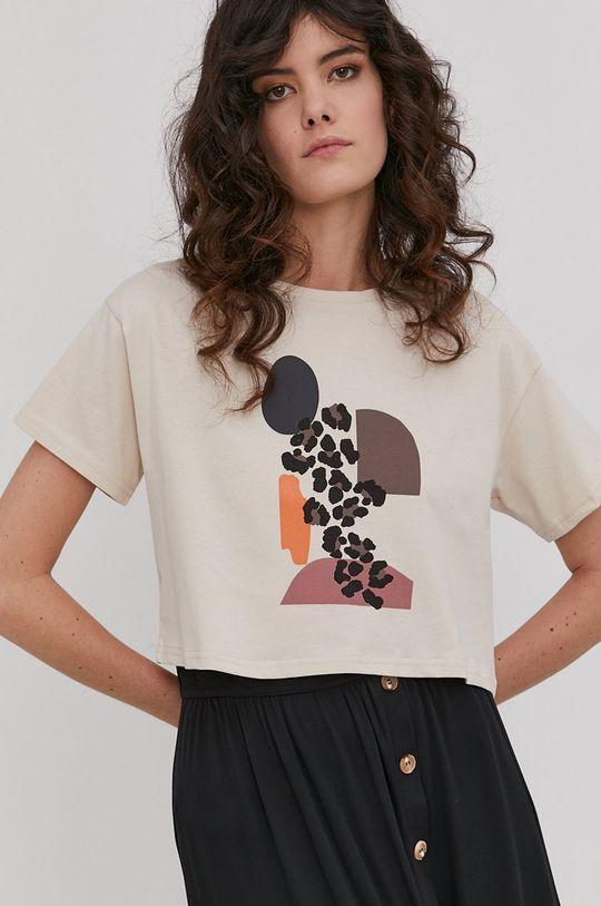 beżowy Answear Lab - T-shirt