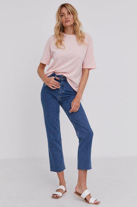 Answear Lab - T-shirt różowy