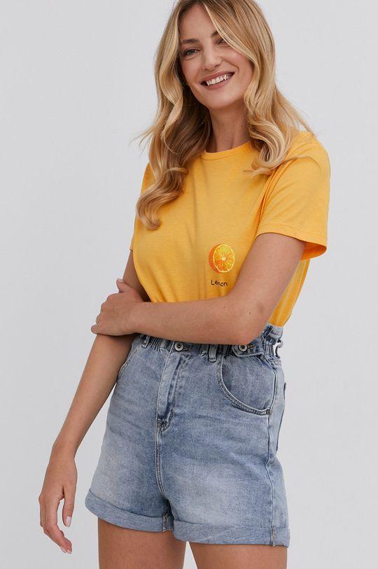 žlutá Answear Lab - Tričko Dámský