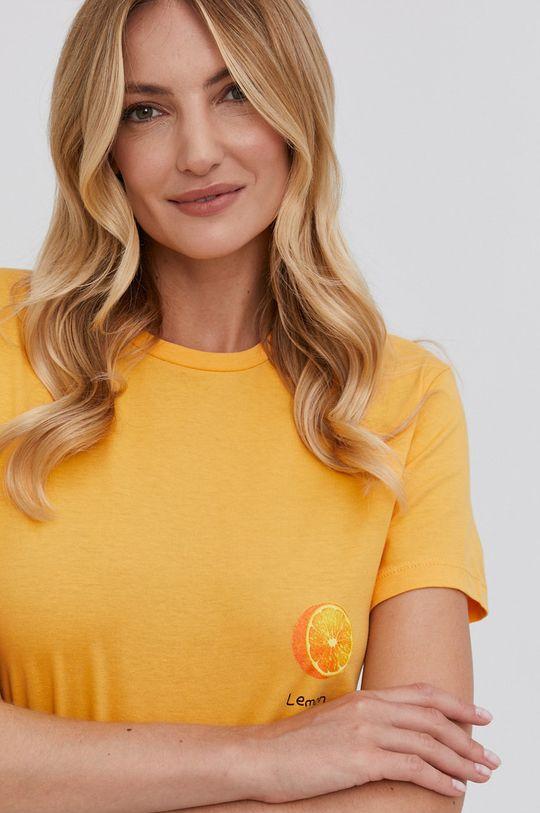 žlutá Answear Lab - Tričko