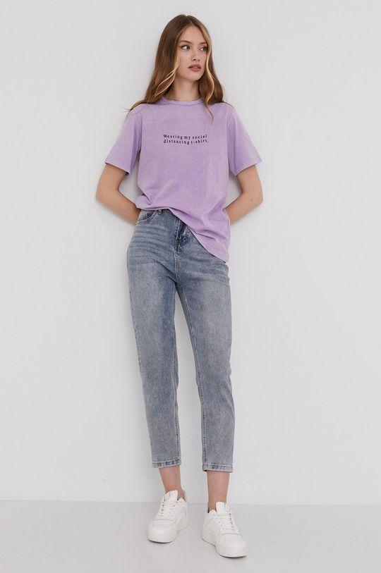 Answear Lab - Tričko levanduľová