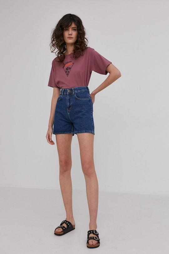 Answear Lab - T-shirt purpurowy