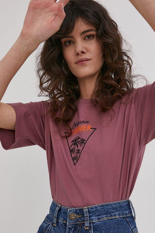 purpurowy Answear Lab - T-shirt