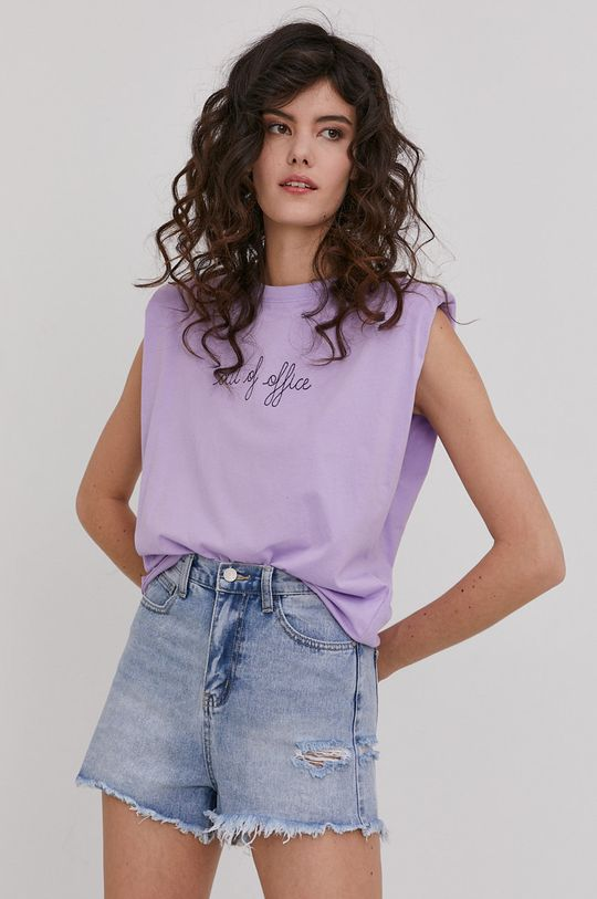 lawendowy Answear Lab - T-shirt