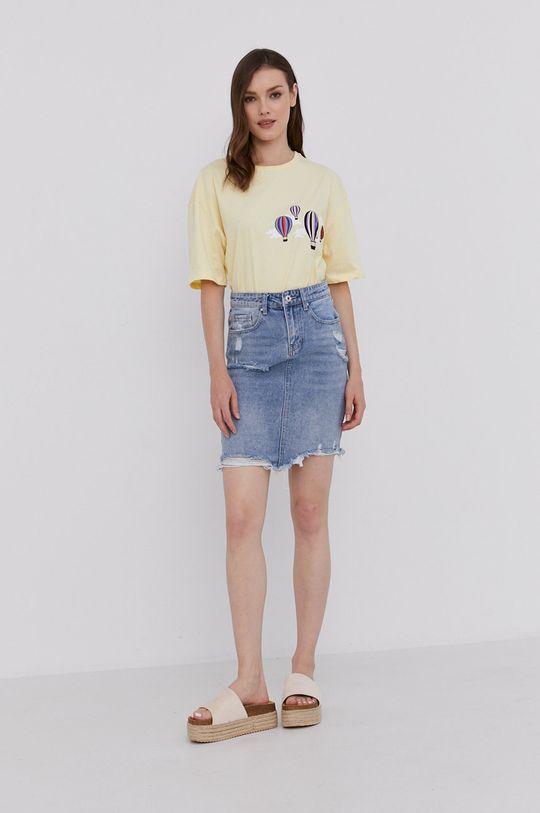 Answear Lab - T-shirt żółty