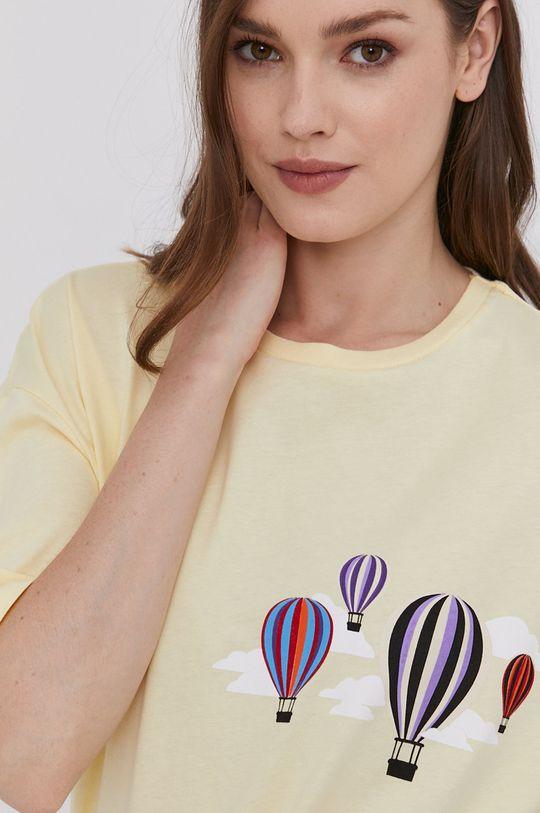żółty Answear Lab - T-shirt