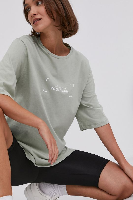 miętowy Answear Lab - T-shirt Damski
