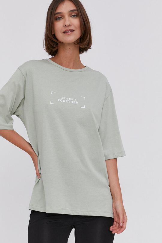 Answear Lab - T-shirt miętowy