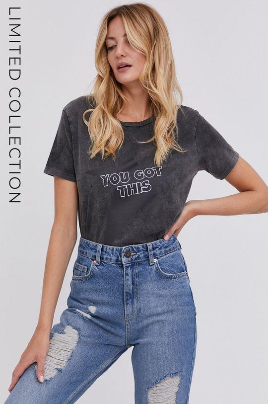 czarny T-shirt answear.LAB X kolekcja limitowana GIRL POWER Damski