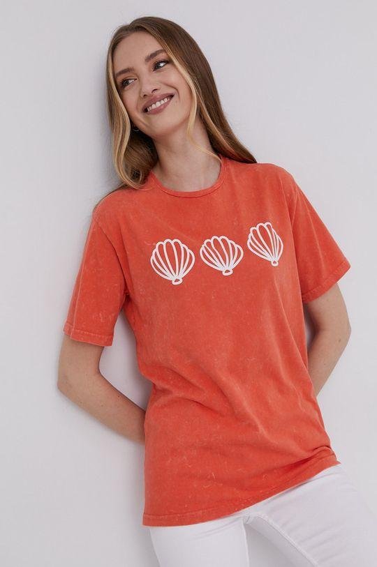 pomarańczowy Answear Lab - T-shirt Damski
