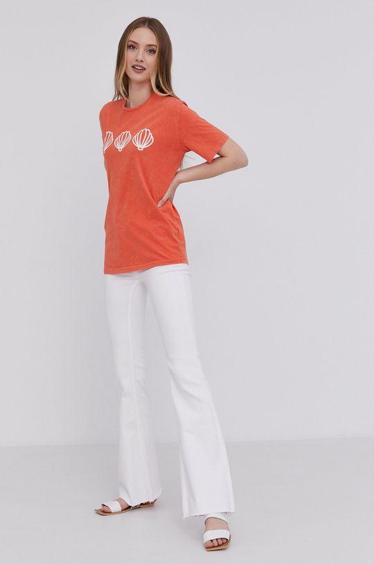 Answear Lab - T-shirt pomarańczowy