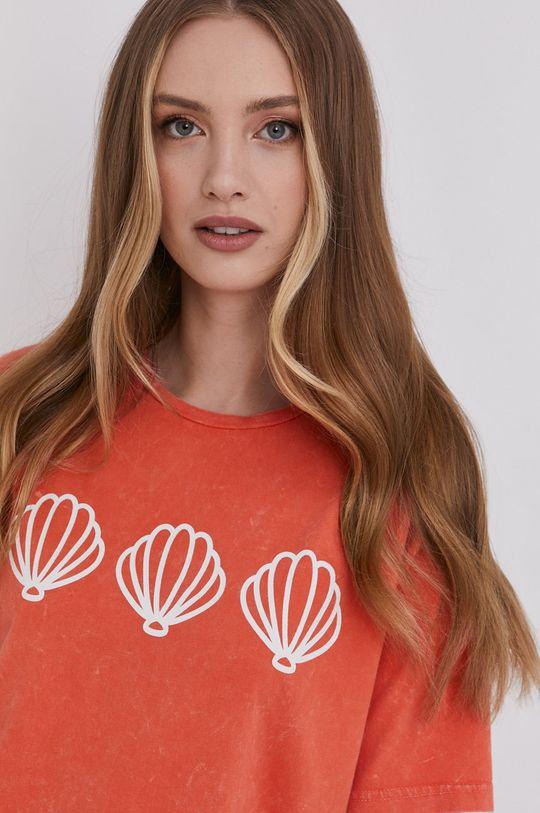 pomarańczowy Answear Lab - T-shirt