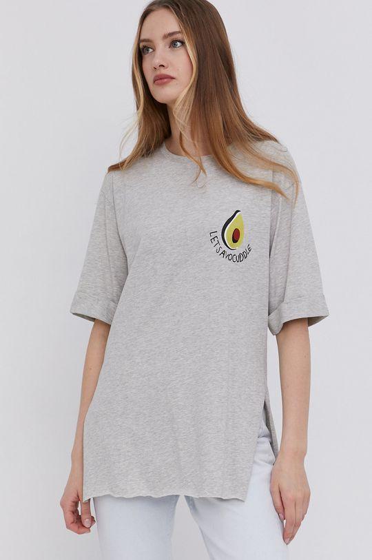 szary Answear Lab - T-shirt Damski