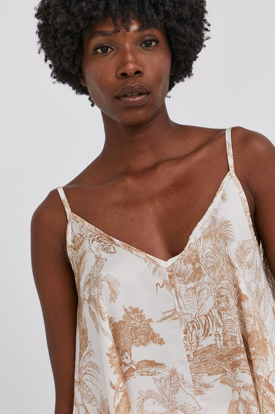 béžová Answear Lab - Nahoře se směsí hedvábí Silk Blend