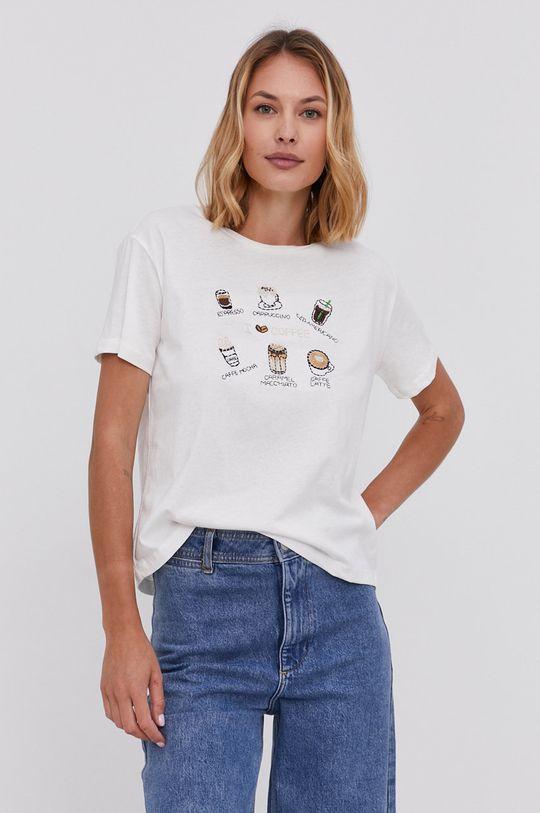 biela Answear Lab - Bavlnené tričko Dámsky