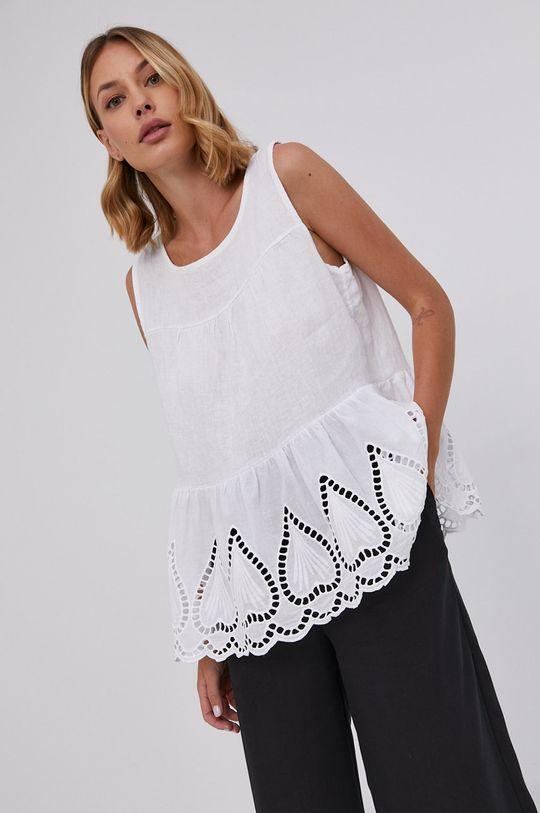 biały Answear Lab - Bluzka lniana Pure Linen Damski