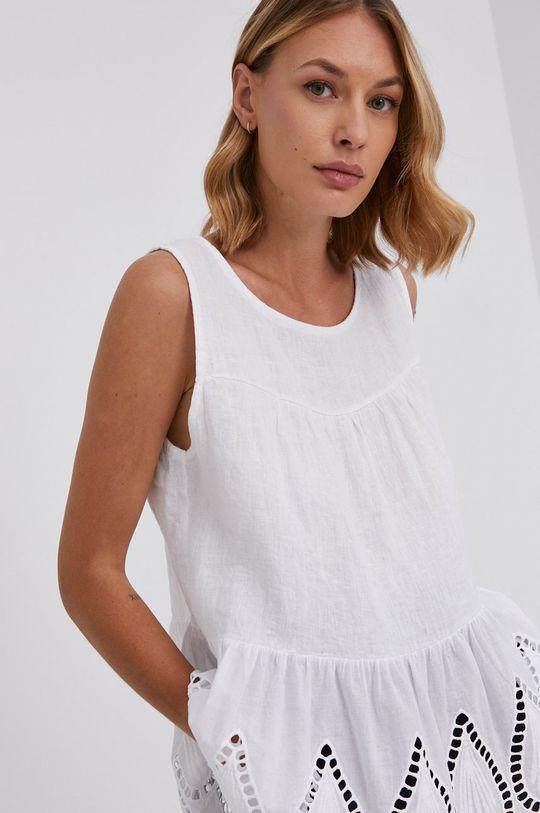 biały Answear Lab - Bluzka lniana Pure Linen