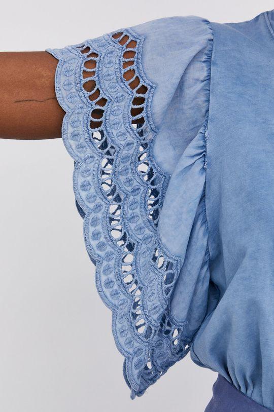 Answear Lab - Bavlněné tričko Garment Dyed Dámský