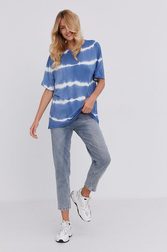 Answear Lab - T-shirt niebieski