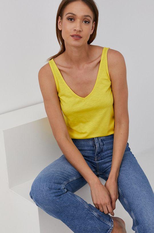 żółty Answear Lab - Top Damski