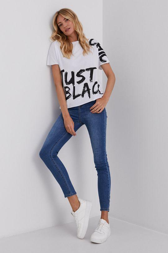 Answear Lab - Bavlnené tričko biela