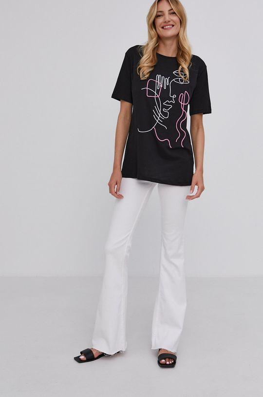 Answear Lab - T-shirt czarny