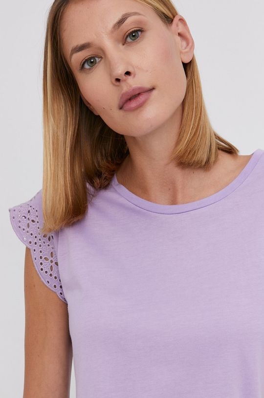 levanduľová Answear Lab - Bavlnené tričko