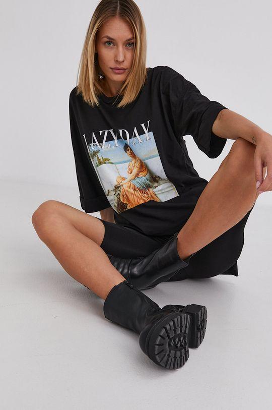 czarny Answear Lab - T-shirt bawełniany Damski
