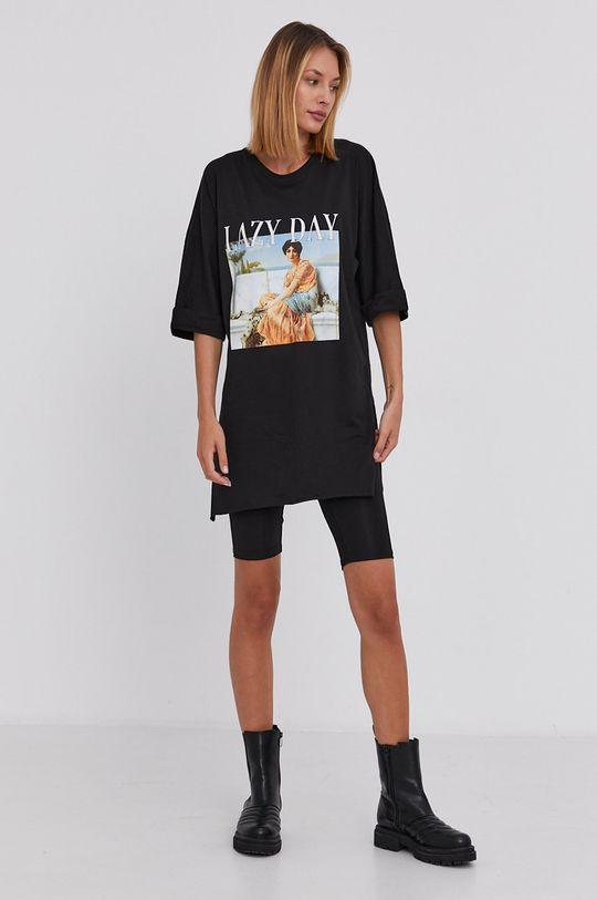 Answear Lab - T-shirt bawełniany czarny