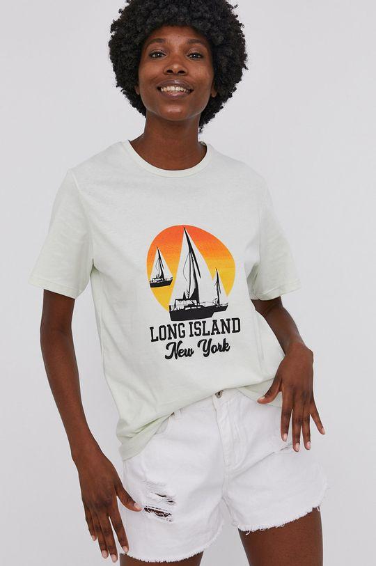 mätová Answear Lab - Bavlnené tričko Dámsky