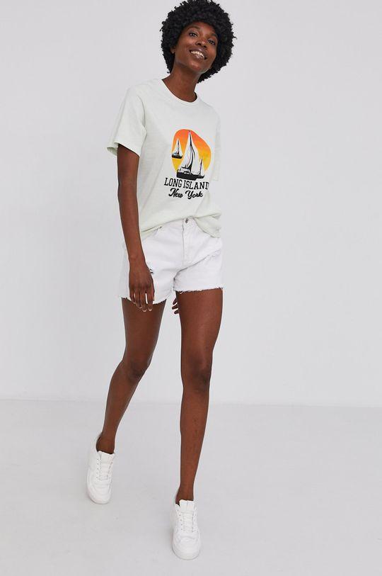 Answear Lab - Bavlnené tričko mätová