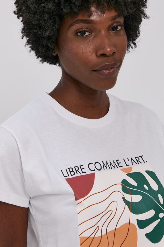 biały Answear Lab - T-shirt bawełniany