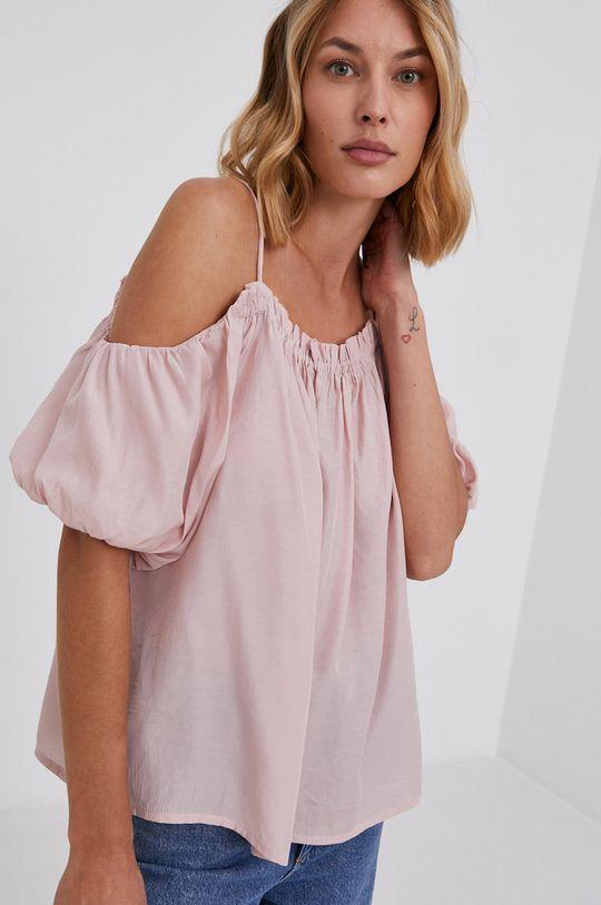 pastelowy różowy Answear Lab - Bluzka Damski
