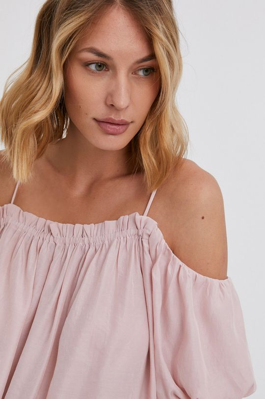 pastelowy różowy Answear Lab - Bluzka