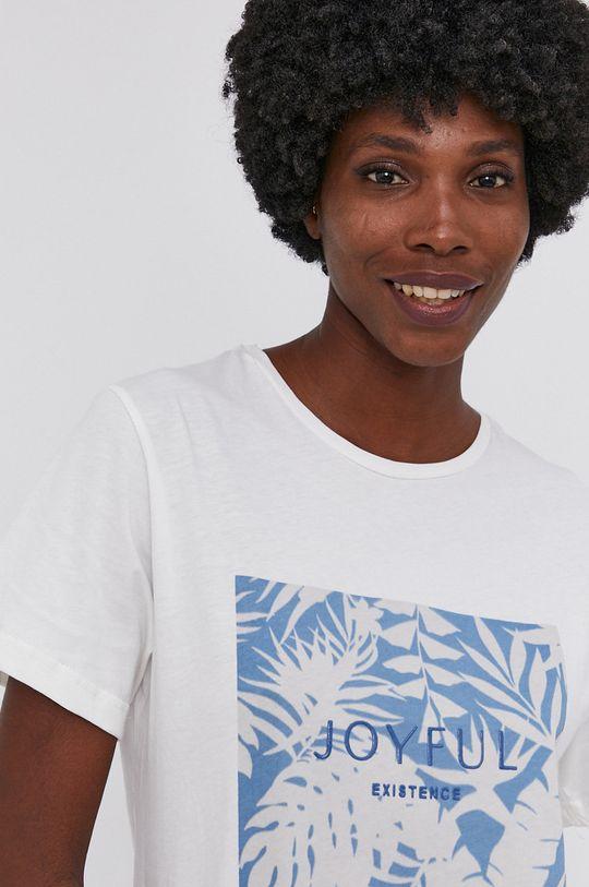 niebieski Answear Lab - T-shirt bawełniany