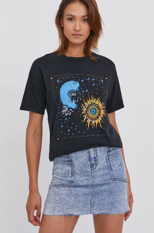 černá Answear Lab - Bavlněné tričko Dámský