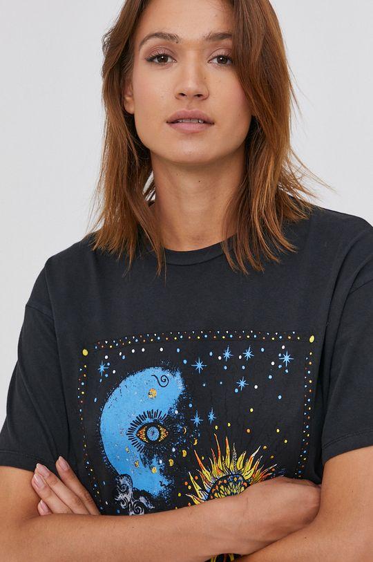 černá Answear Lab - Bavlněné tričko