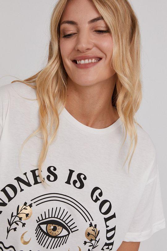 bílá Answear Lab - Bavlněné tričko