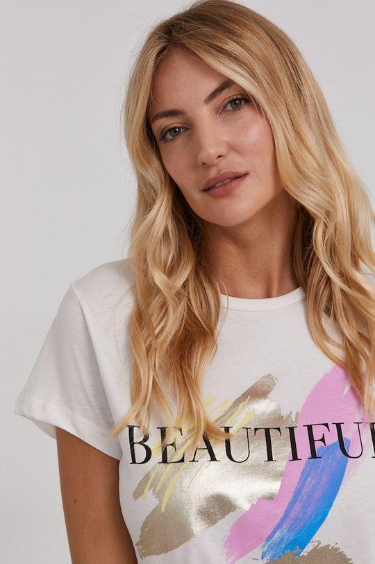 biela Answear Lab - Bavlnené tričko