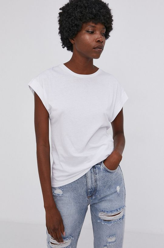 biały Answear Lab - T-shirt bawełniany Damski