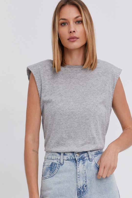 sivá Answear Lab - Bavlnený top