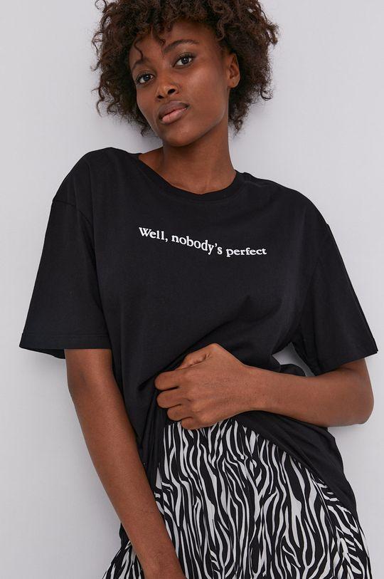 negru Answear Lab - Tricou din bumbac De femei