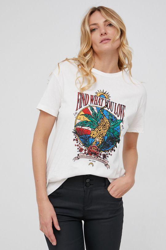 Answear Lab - T-shirt bawełniany biały