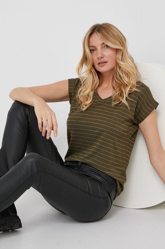 militarny Answear Lab - T-shirt Damski