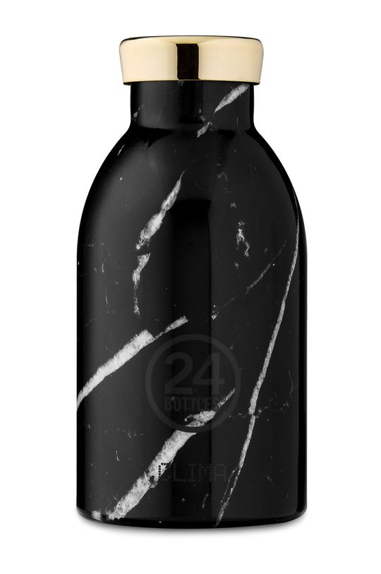 czarny 24bottles - Butelka termiczna Clima Black Marble 330ml Damski