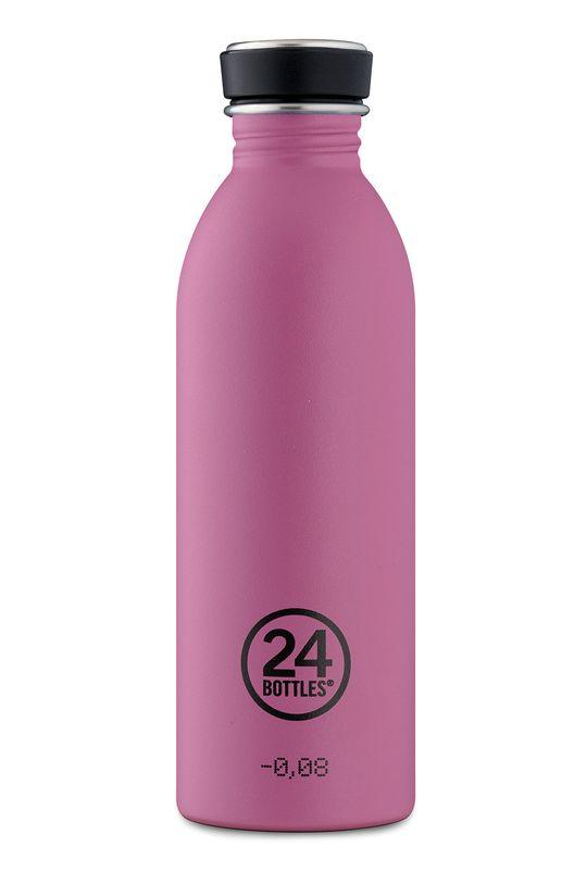 fuksja 24bottles - Butelka Urban Bottle Mauve 500ml Damski