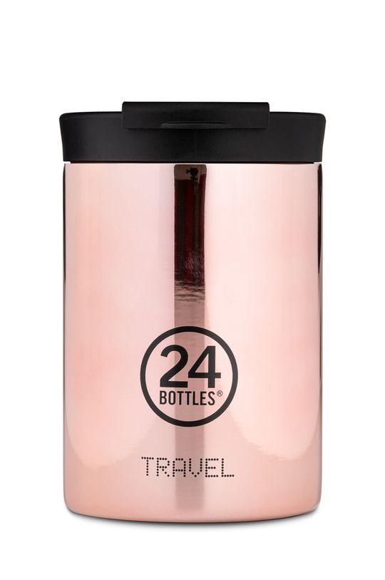 różowy 24bottles - Kubek termiczny Travel Tumbler Rose Gold 350ml Damski