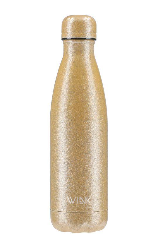 złoty Wink Bottle - Butelka termiczna GLITTER GOLD Damski